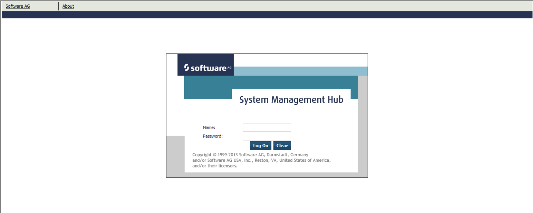 System management hub console